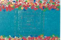 Jardin turquoise 1  – 2000 –  100×80 cm