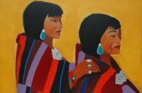 Jeunes femmes tibétaines  2005  – 100×140 cm -