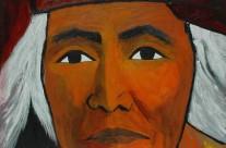 Indien Hopi, chef du clan du Soleil  2007  – 100×100 cm -