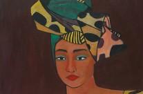 Femme avec parure africaine  2008  -120×100 cm -