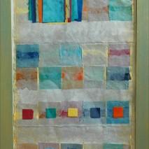 Poésie 94 x 46 – 2014 papier népalais sous verre