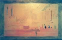 Coucher de soleil  2002  – 80×120 –  ( collection privée )