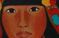 Femme tibétaine  2005  – 120×80 cm -